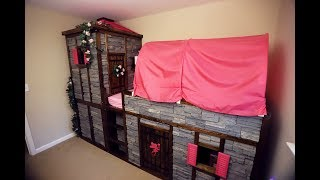 IKEA Hack - Kura Bed Converted Into A Fairy Princess Castle, complete with Secret Passage