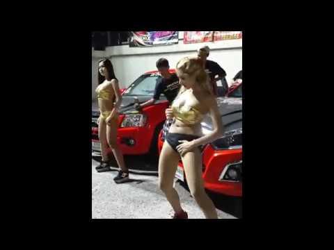 Drag racing thailand lady dancer truck in boyza thailand