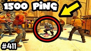 1500 PING SNEAKY NINJA! - CS:GO BEST ODDSHOTS #411