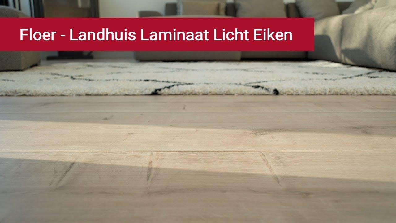 Licht Eiken Laminaat : Floer landhuis laminaat licht eiken cm extra breed youtube