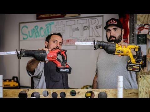 Reciprocating Saw Tool Test - Milwaukee VS DeWALT