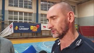 Trener +ubrЈw Biaтystok Krzysztof Kalinowski po wygranej z Turem Bielsk Podlaski 23.10.2019