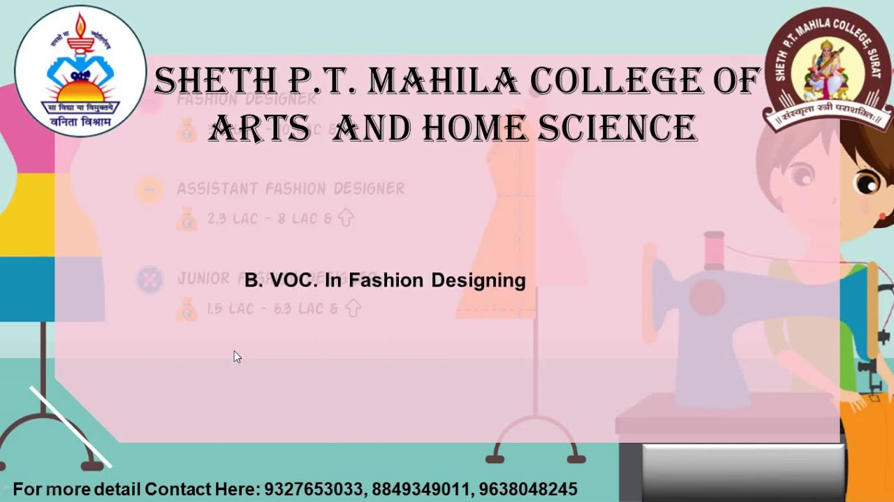 Bvoc In Fashion Designing Youtube