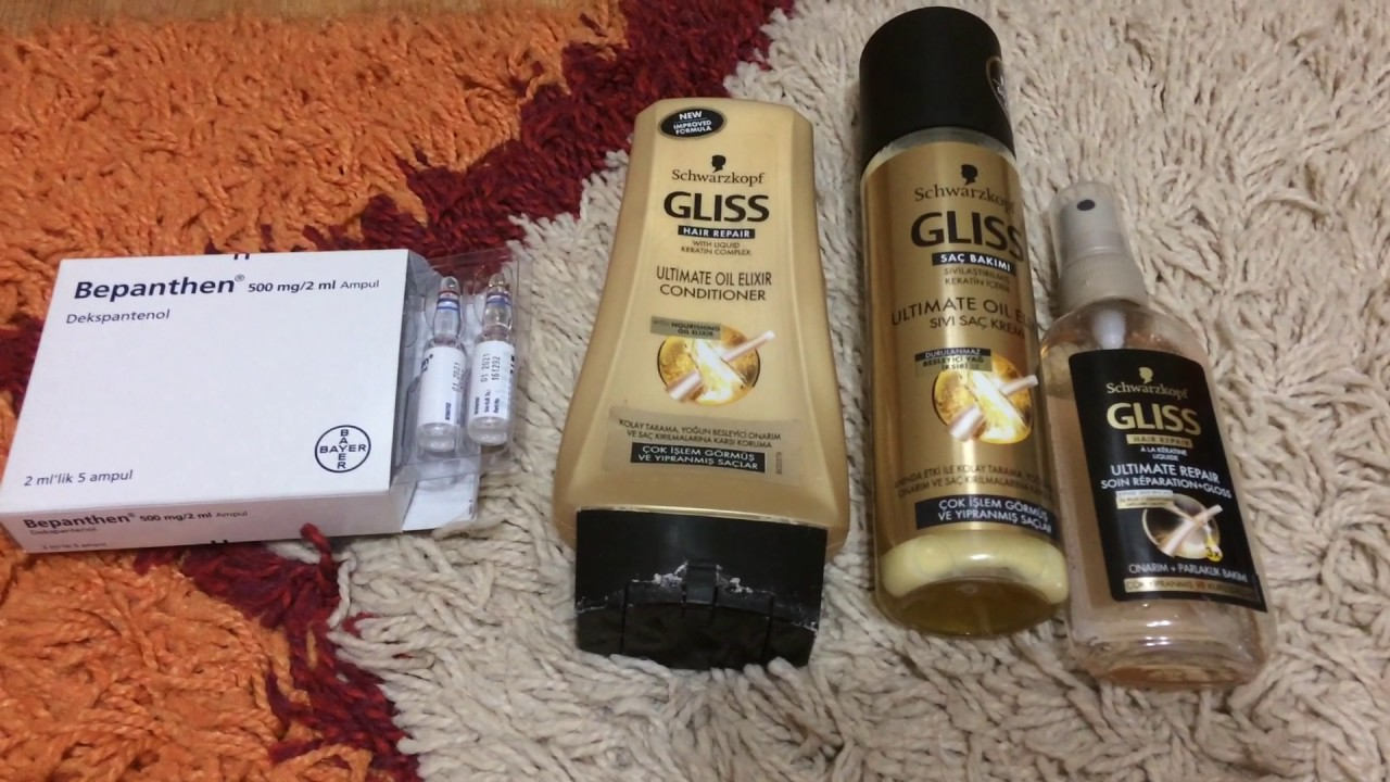 Gliss Schwarzkopf Sampuan Sac Bakim Urunleri Youtube