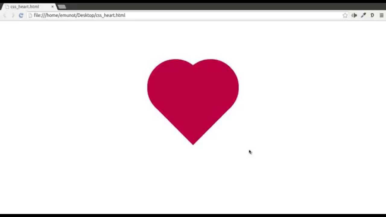 How To Create a CSS Heart - YouTube