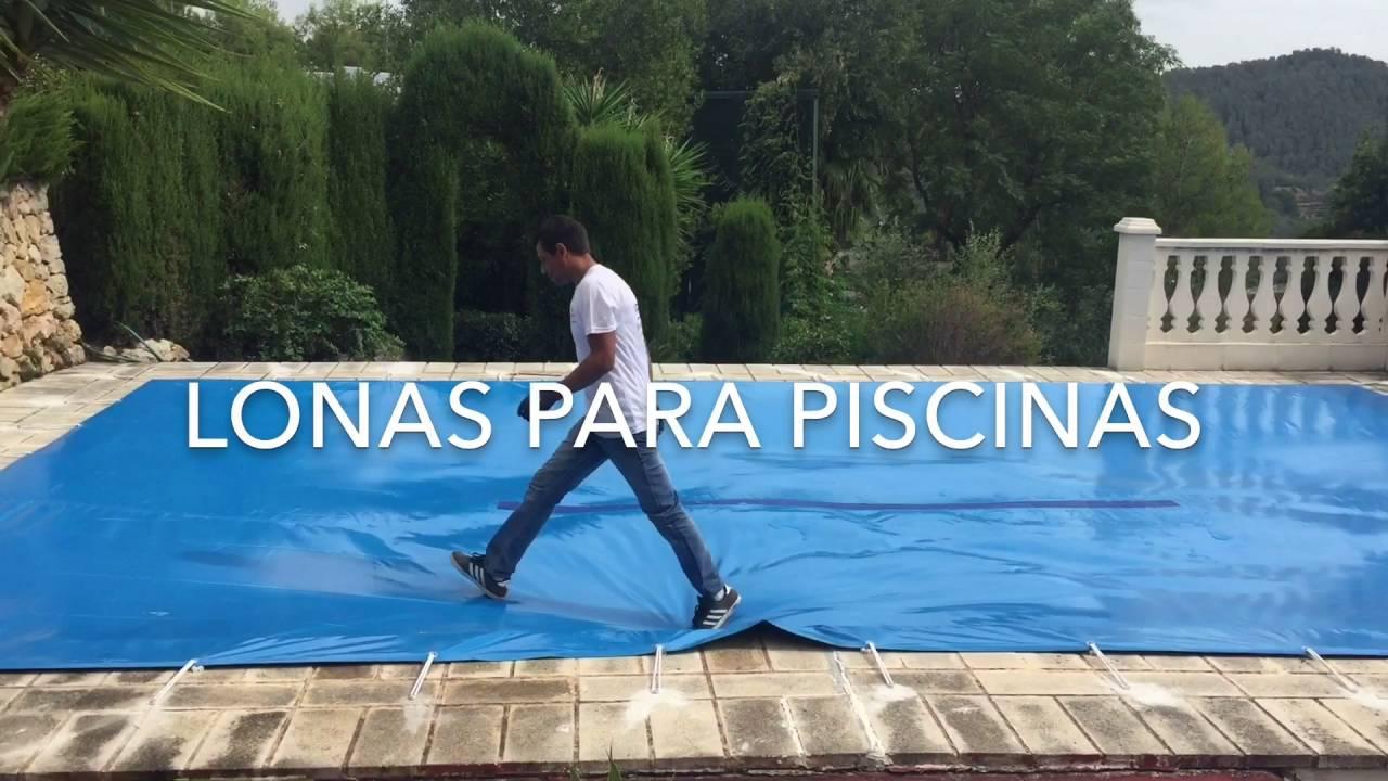 Lonas para piscinas youtube for Toldos para piscinas