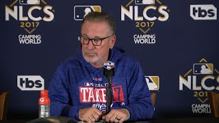 NLCS Gm4: Maddon on foul call, Baez's homers in win