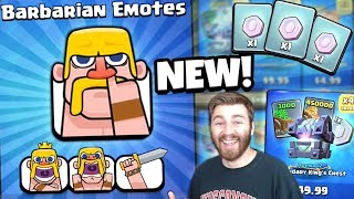 NEW BARBARIAN EMOTES & LEGENDARY TRADE TOKENS UNLOCKED | Clash Royale | NEW UPDATE OFFER OPENING