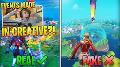 I REACTED to Fortnite EVENTS made in Creative... (almost identical)