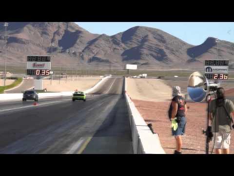 Hellcat vs Tesla - Revenge at the Strip