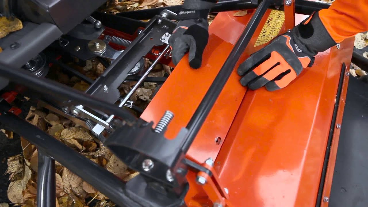 P524 - How to attach flail mower accessory