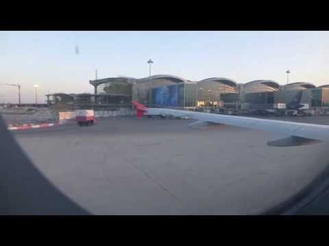 Landing at Amman in a Royal Jordanian A320