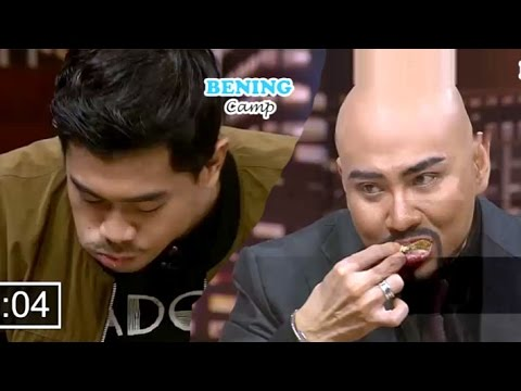 DEDDY VS BARA ILHAM LOMBA MAKAN CHICKEN - Hitam Putih 10 April 2017