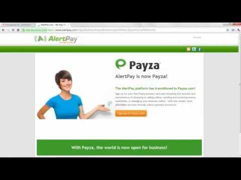 Открытие кошелька в платежной системе AlertPay(Payza)