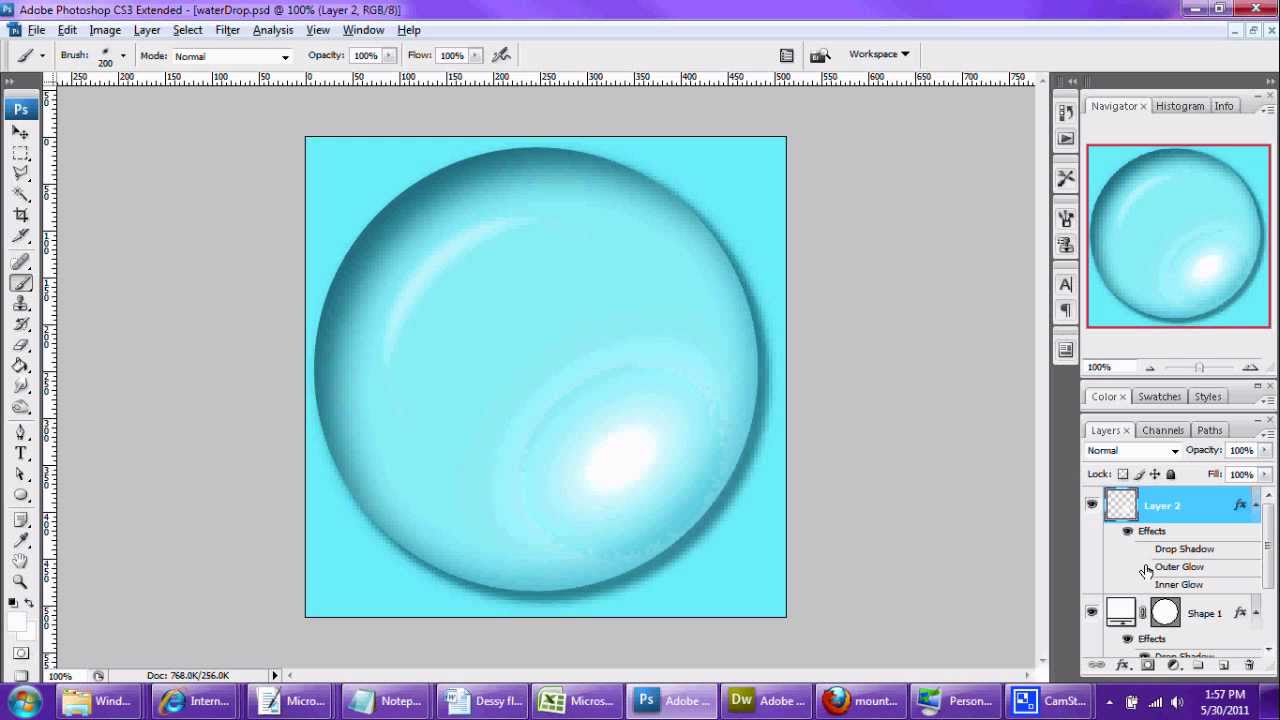 Make Water Bubble in Photoshop Tutorial - YouTube