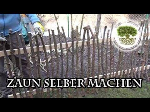 DIY - Gartenzaun selber machen - YouTube