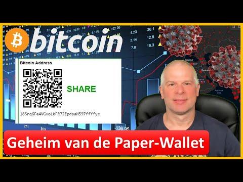 Geheim Van De Bitcoin Paper Wallet | Public Address En Private Key | Privacy En Eigendom