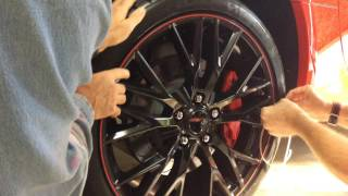 Installing Rimstripes in the Groove of a Z06 Wheel