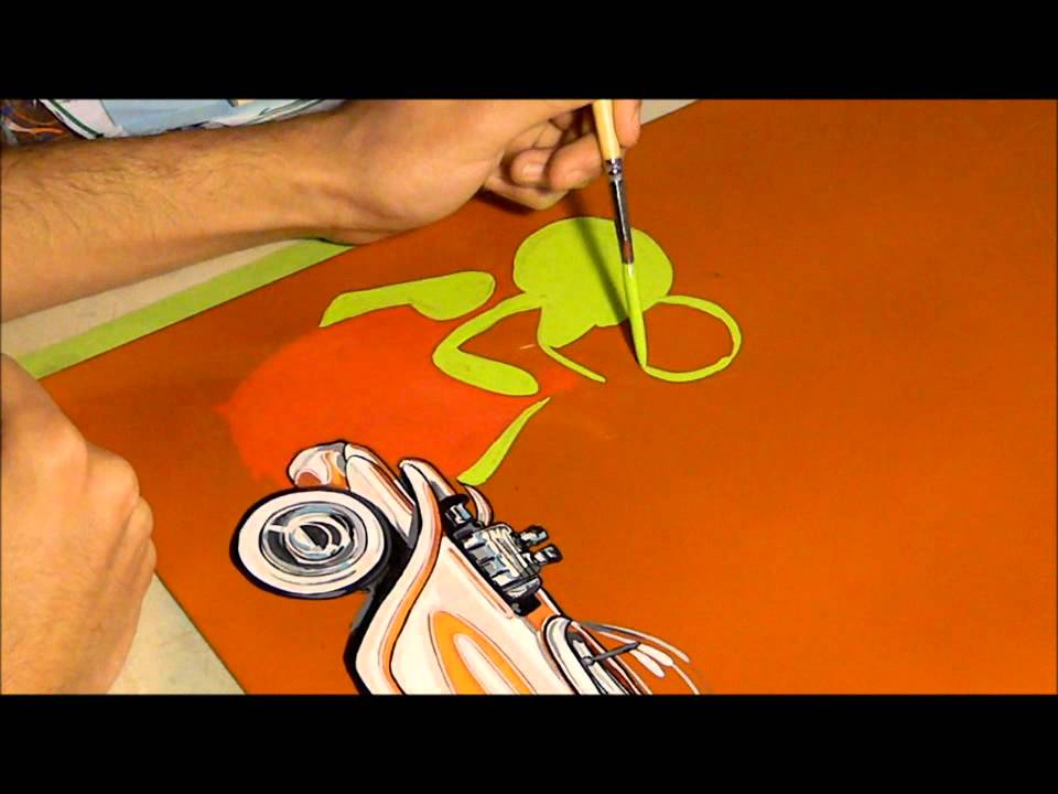 Ed Roth Panel Time Lapse Mercado U0026 39 S Pinstriping
