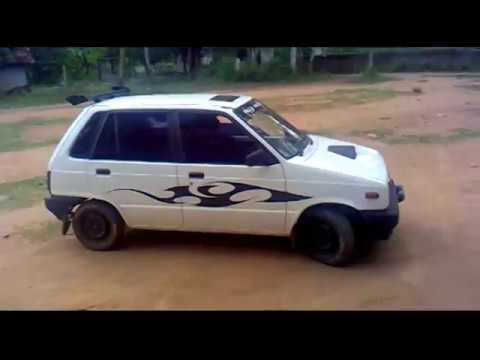 Stunt with modified maruti 800