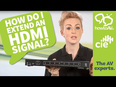 How to extend an HDMI signal