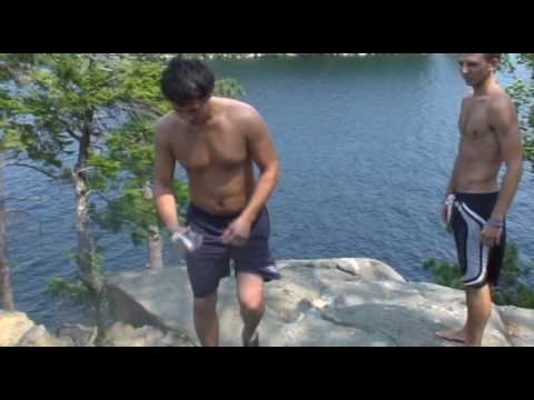 Newfound Lake - Jumping off the Cliff!