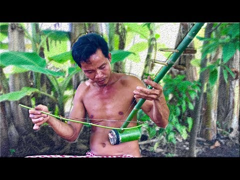 Primitive Culture: How to Make Khmer Stringed Instrument Similar to the Violin From Bamboo