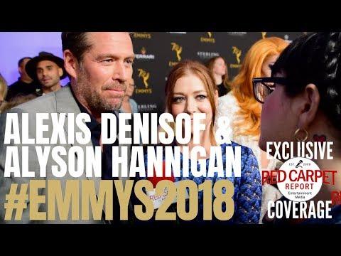 Alexis Denisof & Alyson Hannigan ed at Performer Peer Group Emmy Awards Celebration Emmys