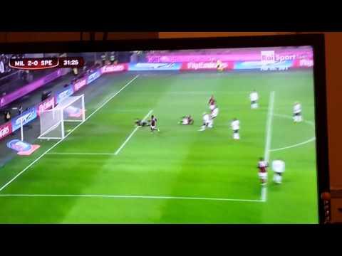 Gol Pazzini Milan - Spezia 15.01.2014