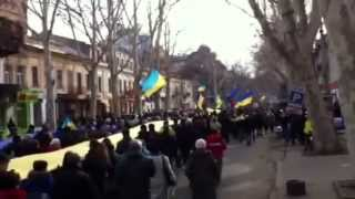 Odessa Rally To Support Euromaidan In Ukraine