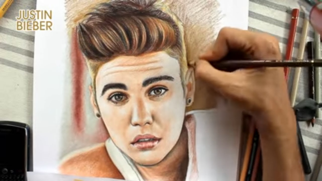 coloring justin bieber by juan andres youtube