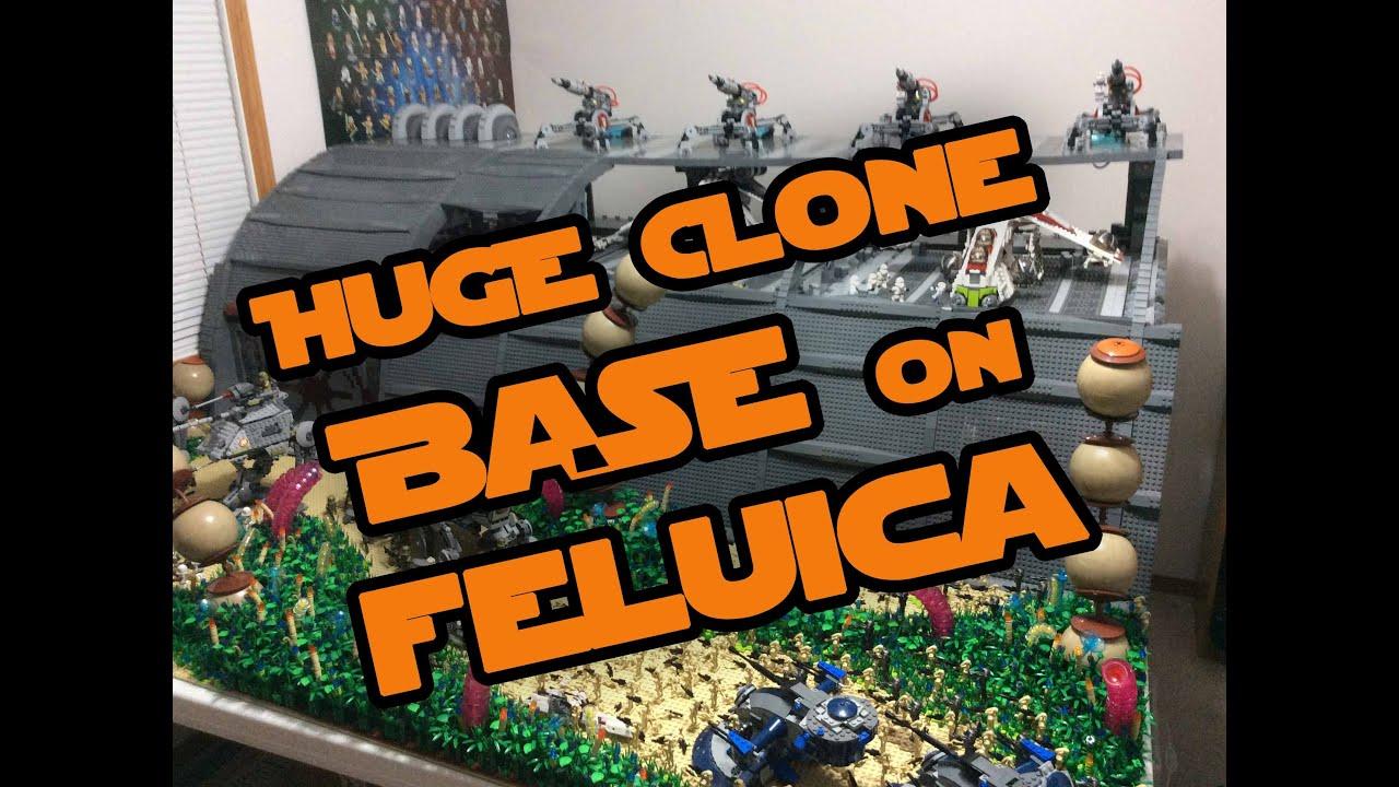 Lego Star Wars Huge Republic Supply Base on Felucia (BIGGEST CLONE ...