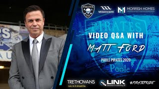 Gambar cover Matt Ford   Interview and Fan Q&A   POOLE PIRATES SPEEDWAY 2020