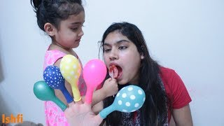 Balloon Daddy Finger Family Song Nursery Rhymes with Rufi Ishfi