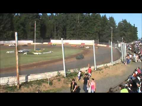 4 Cylinder racing at River City Speedway #2 7/7/12 (Heat #1) View #2