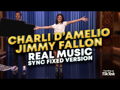 Charli D'Amelio Jimmy Fallon Real Music Edition - The Tonight Show