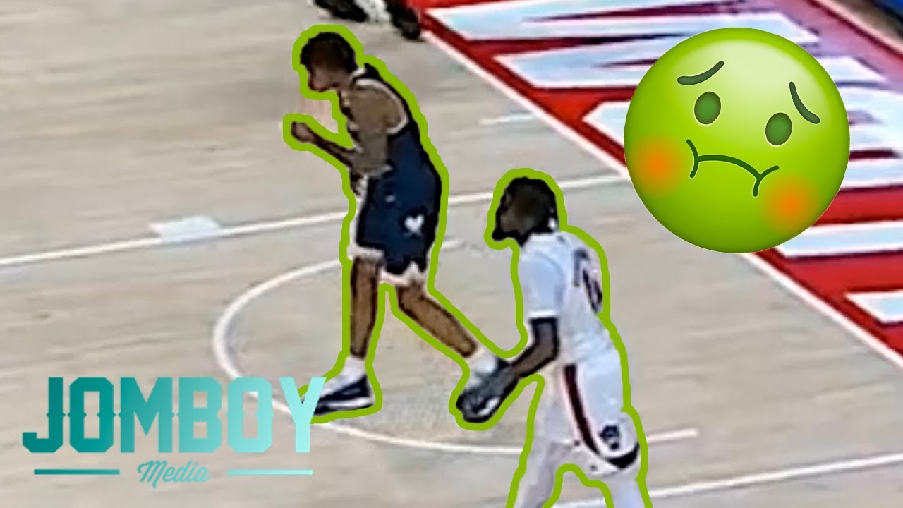 Download Basketball player pukes on opponent, a breakdown