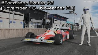 Forza Motorsport 7 - November #Forzathon Events #3 (November 16 - November 30)
