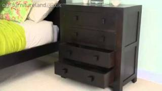 Mantis Dark Solid Mango 4 Drawer Chest From Oak Furniture Land
