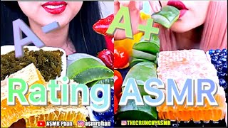 Rating eating most popular food for ASMR
