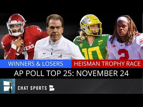 AP Poll: College Football Top 25 Rankings + Winners & Losers From Week 13 Of College Football