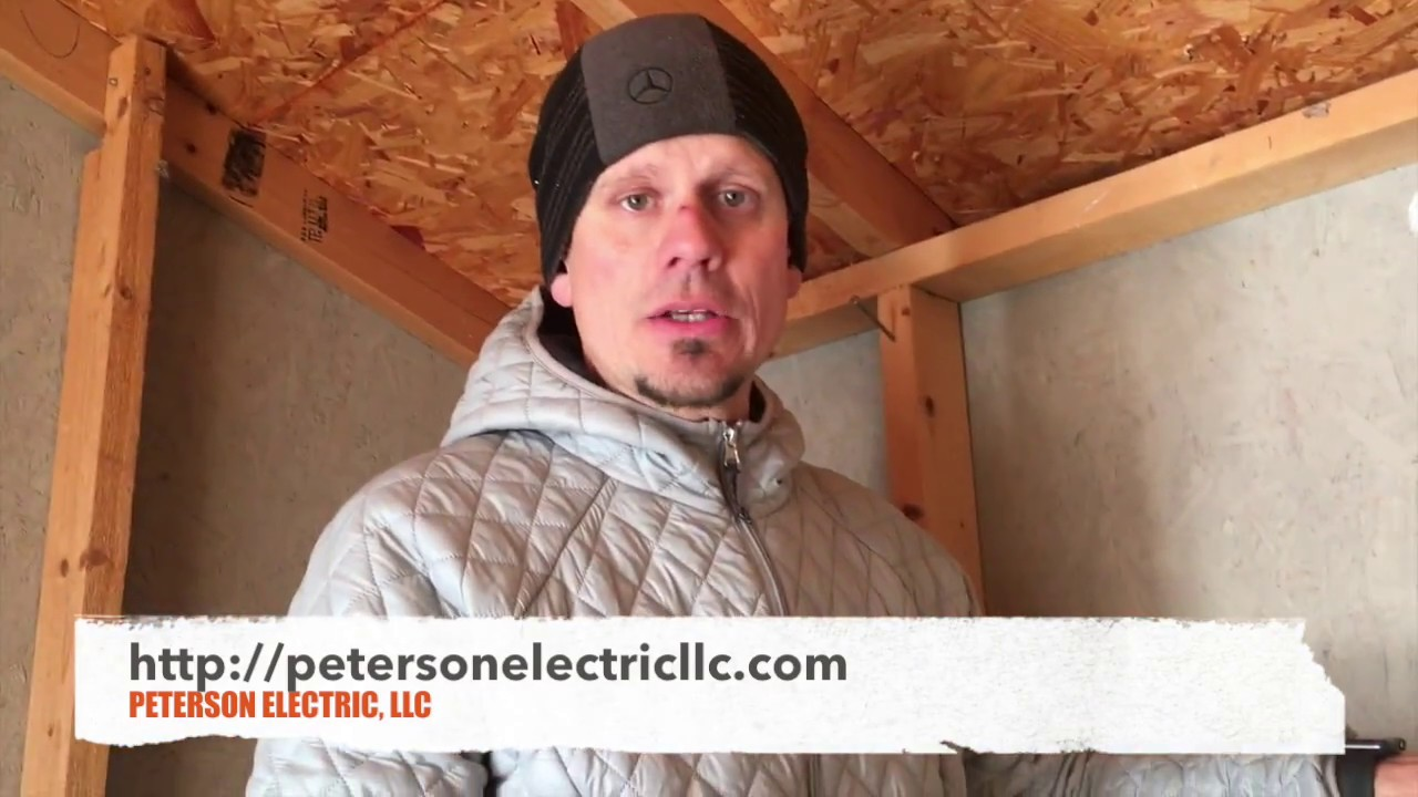 Installing Power To A Small Residential Shed, Loveland Requirements