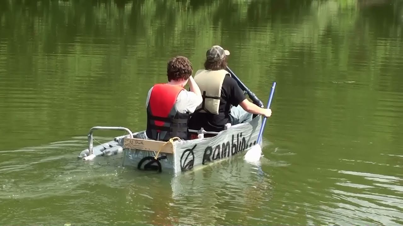 Duct Tape Boat With Outrigger