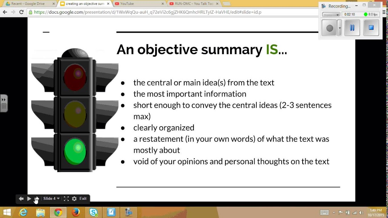 Writing An Objective Summary  What Is An Objective Summary