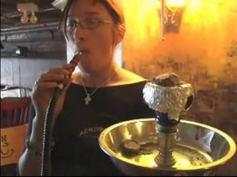 How to Smoke a Hookah : How to Inhale Hookah Smoke