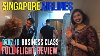 SINGAPORE AIRLINES  | REGIONAL BUSINESS CLASS | FULL FLIGHT REVIEW | SQ983 | BANGKOK TO SINGAPORE