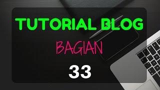 Cara Mengubah atau Edit Menu Bar pada Blog