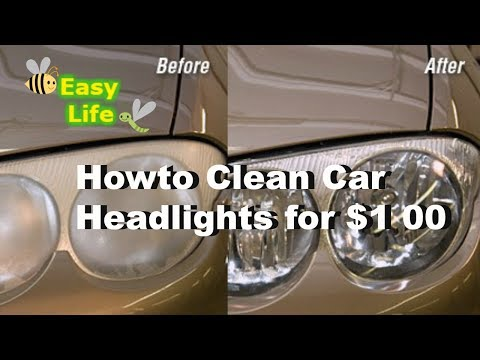 How to Clean Car and Restore Headlights for $1.00 Hack