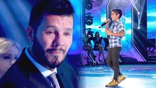 Marcelo Tinelli no contuvo sus lágrimas al escuchar cantar a Alexis Cristóbal de 12 años