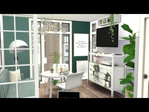 The Sims 4 Speed Build Green Themed Bedroom Doovi